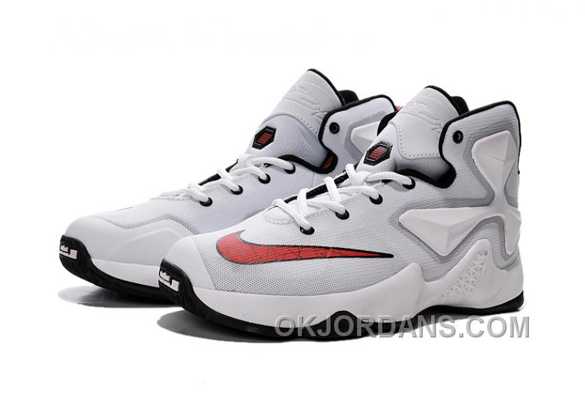 Nike LeBron 13 White Red Grade School Shoes Online ImhDW8w f7ff02651