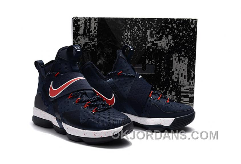 Nike LeBron 14 SBR Navy Blue Red Top Deals