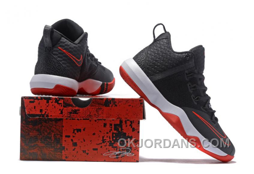 buy popular 65285 2290c Nike Lebron Ambassador 9 Zoom Air Men Black Red White Lastest