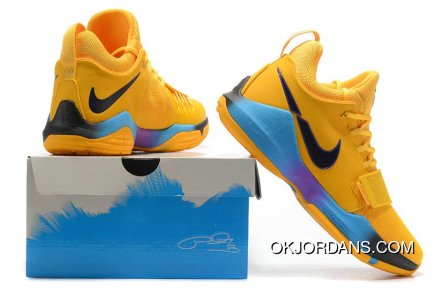 1a323d749b93 Nike Pg 1 Flip The Switch Gold Blue Purple Pg Basketball Shoes Top Deals