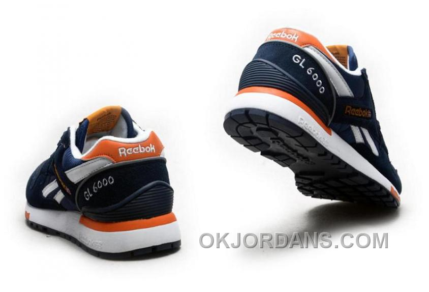 Reebok GL6000 Mens Classic Running Deepblue Orange Lastest 2TtYA