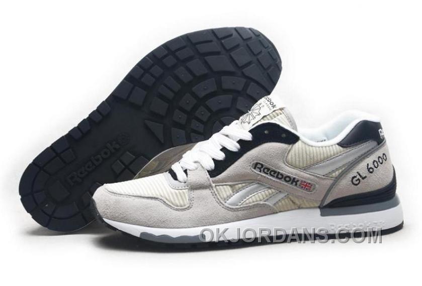 Reebok GL6000 Mens Classic Running Grey Black Authentic Fa7pS