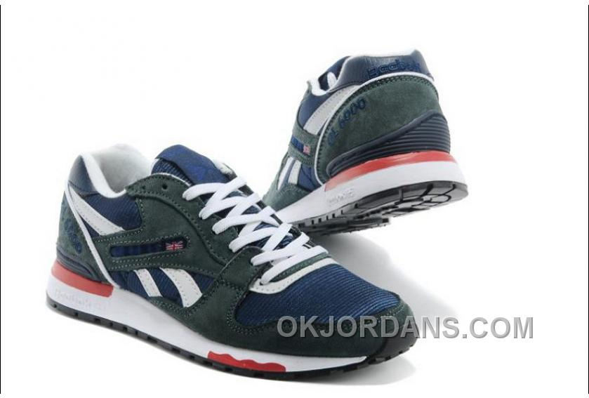 Reebok GL6000 Mens Classic Running Grey Deepblue Super Deals NjW8Z