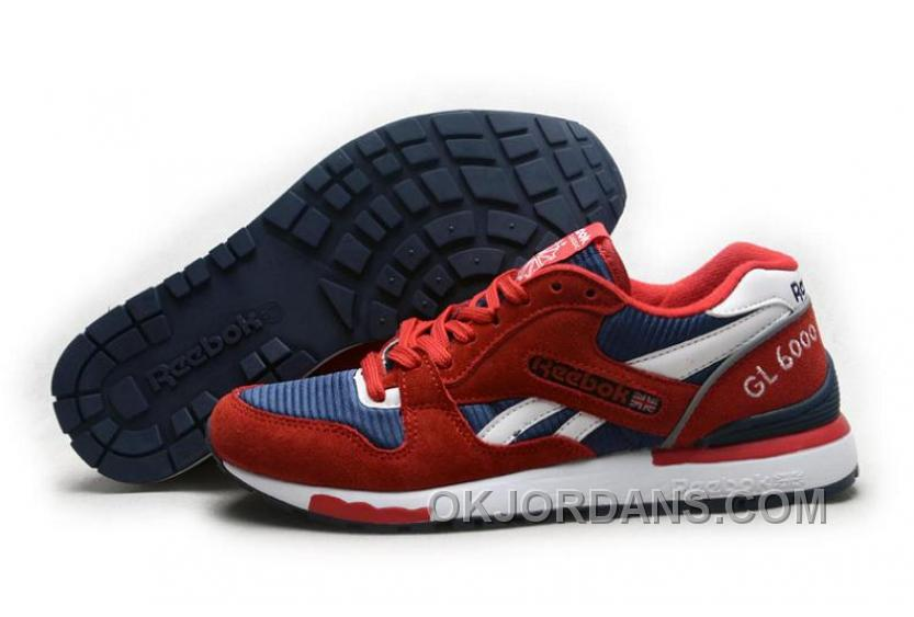 Reebok GL6000 Mens Classic Running Red Deepblue For Sale SY7b2