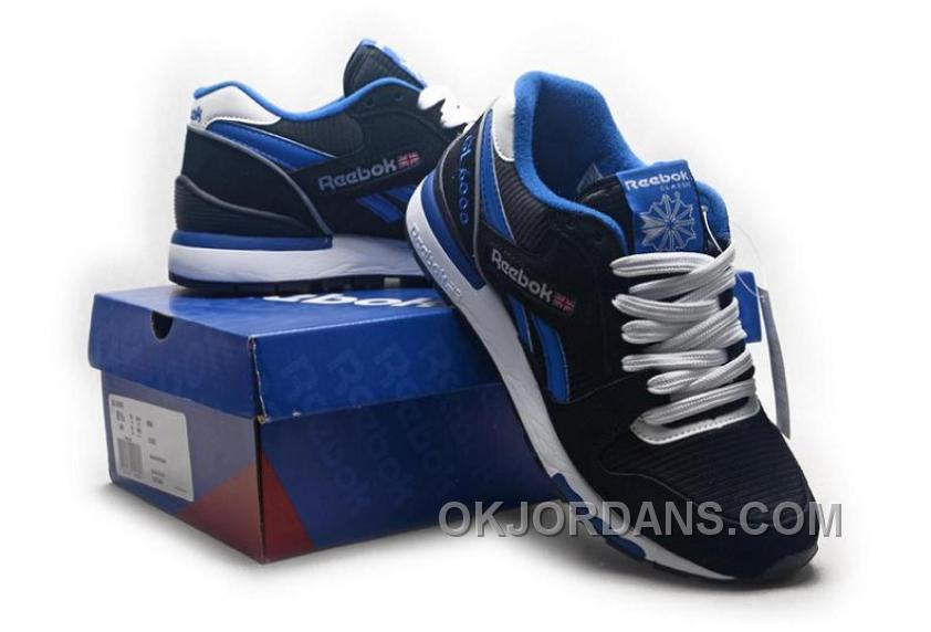Reebok GL6000 Womens Classic Running Black Blue For Sale K3mwr