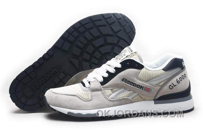 Reebok GL6000 Womens Classic Running Grey Black Cheap To Buy 3JW3n