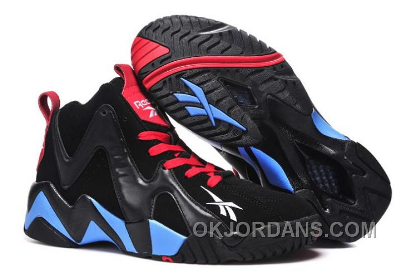 Reebok Kamikaze II Mid Mens Fashion Sneaker Basketball Black Blue Red For Sale Mh6CK