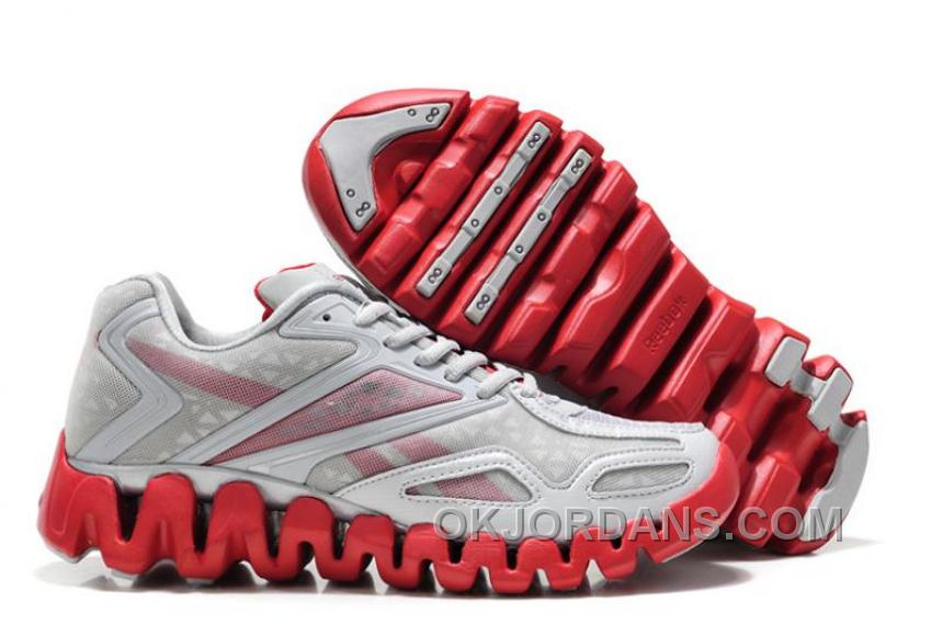 Reebok ZigSonic Running Grey Red For Mens Cheap To Buy DNpBc