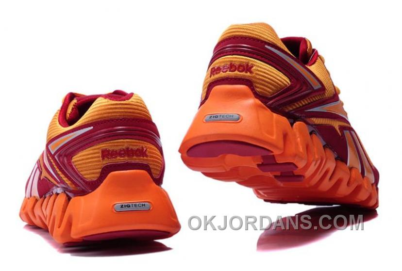 Reebok ZIG TECH For Mens Orange Red Super Deals 3Q54i