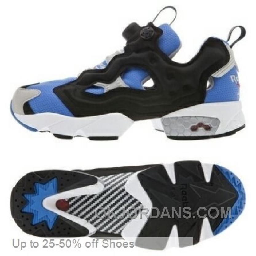 Reebok Men Insta Pump Fury Casual Shoes Sky Blue Black Online XRbHT