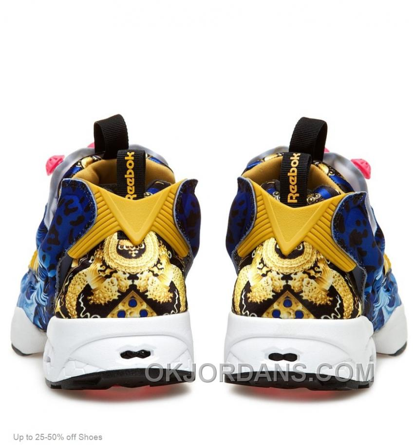 Reebok Women Insta Pump Fury 20th Anniversary Blue Pink Yellow Casual Shoes Top Deals FNsSR