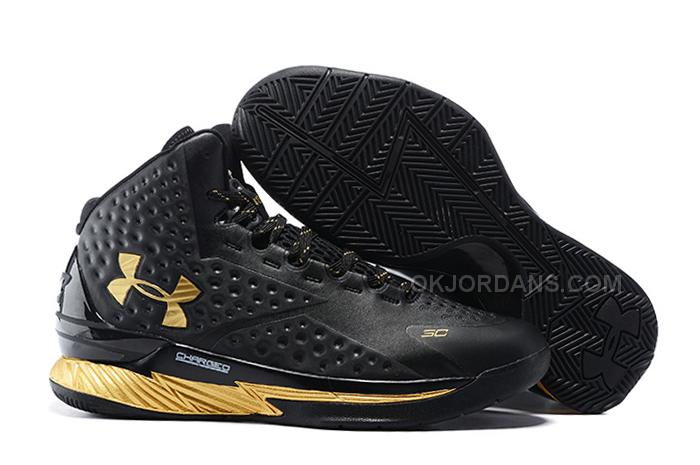 be4708a0e527 ... france the under armour ua curry one black gold shoe goes with a  blacked out look