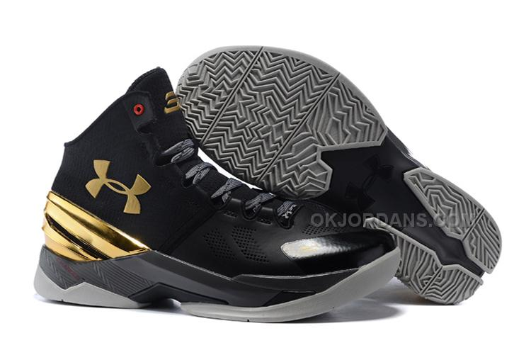 Under Armour Curry 2 Black Chrome Gold Shoes For Sale 687789a6f2