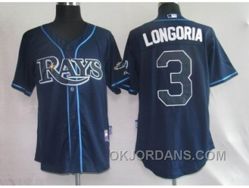 Youth Mlb Jerseys Tampa Bay Rays #3 Longoria Dk Blue HkfFW