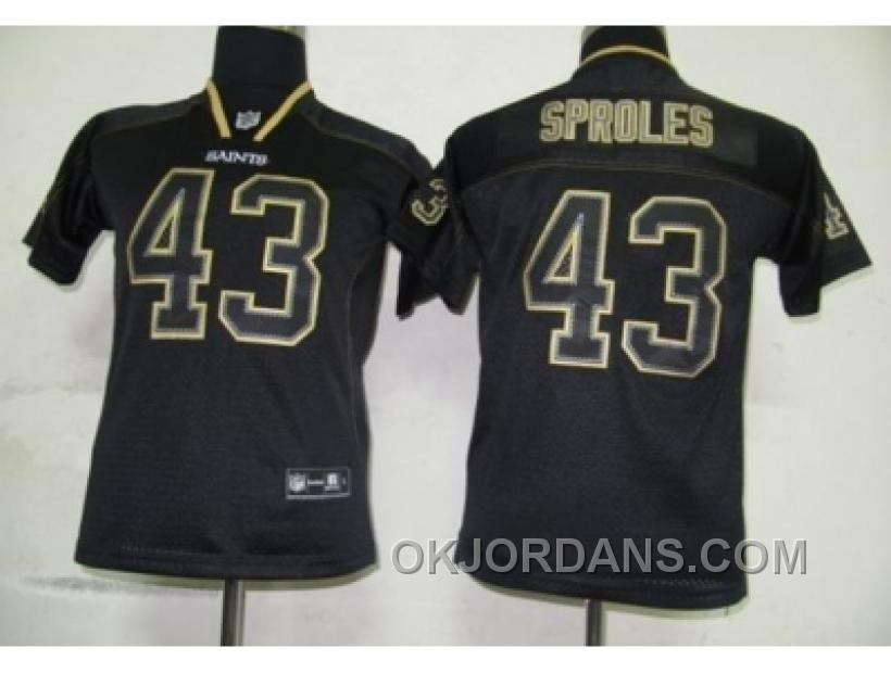 Youth Nfl Jerseys New Orleans Saints #43 Sproles Black[lights Out] By35e
