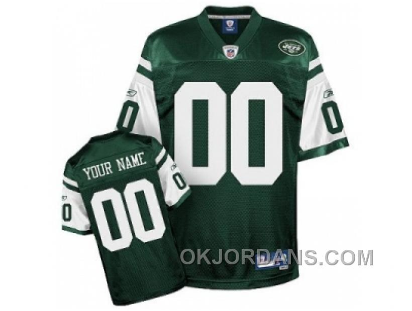 Customized New York Jets Jerseys Youth Eqt Green Team Color Football FMfiG