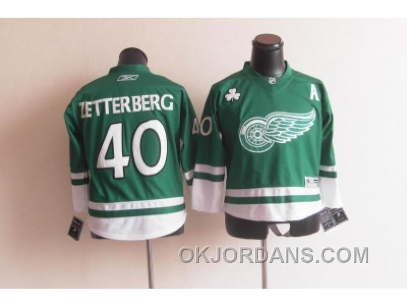 Youth Nhl Jerseys Detroit Red Wings #40 Zetterberg Green Nw4RR