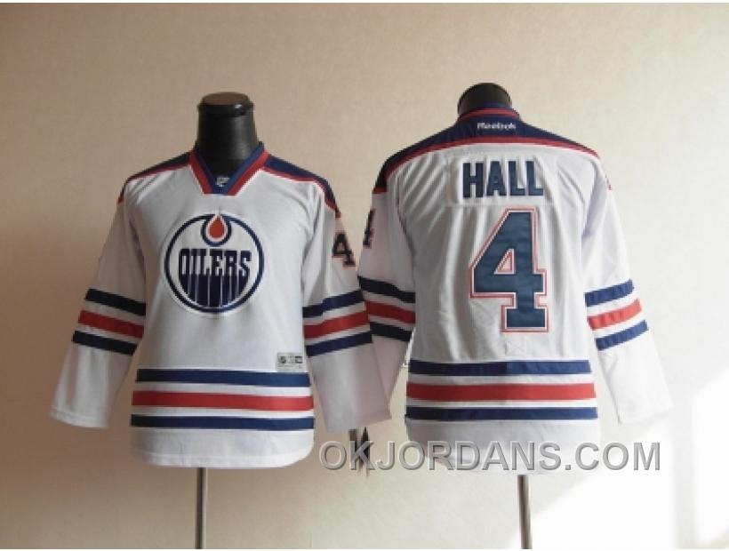 Youth Nhl Jerseys Edmonton Oilers #4 Hall White KGRsW