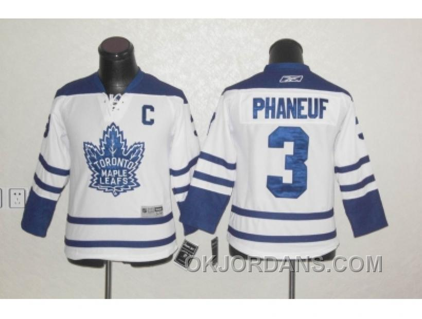 Youth Nhl Jerseys Toronto Maple Leafs #3 Phaneuf Blue[C] DakBr
