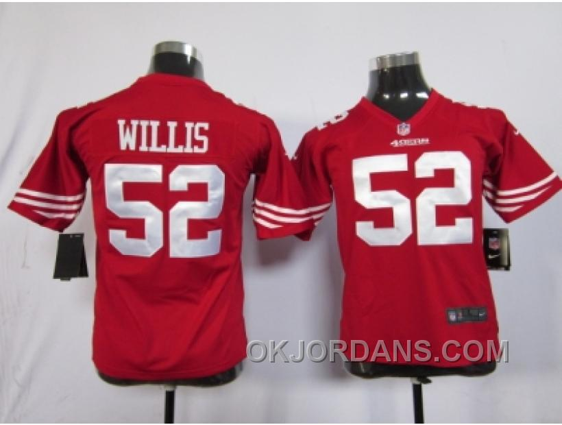 Nike Youth Nfl Jerseys San Francisco 49ers #52 Willis Red XWthS